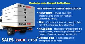 Junk & Rubbish Removal Variable Prices Manchester & Liverpool